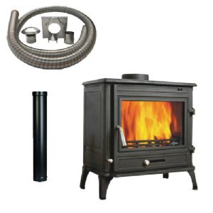 View 12B Multifuel Stove with Installation Kit